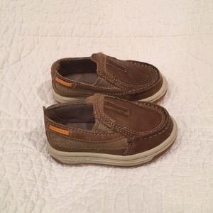 Timberland Slip Ons Tan Suede Size 4.5